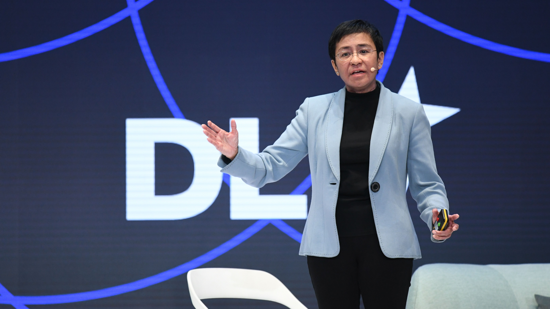 Die Journalistin Maria Ressa auf der DLD-Konferenz in München.