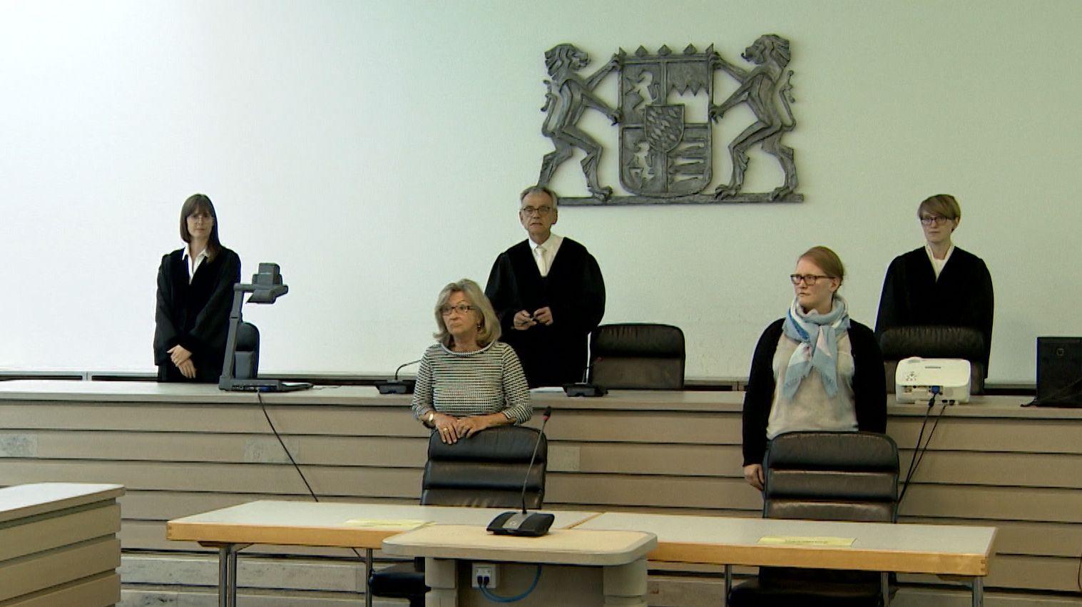 Im Gerichtssaal in Ingolstadt