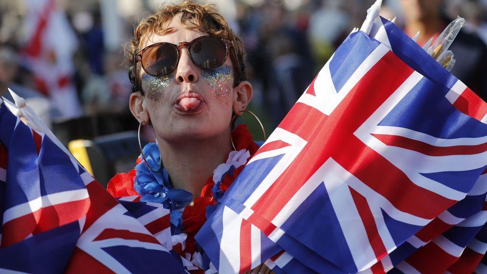 Brexit-Anhänger in London | Bild:dpa-Bildfunk/Frank Augstein