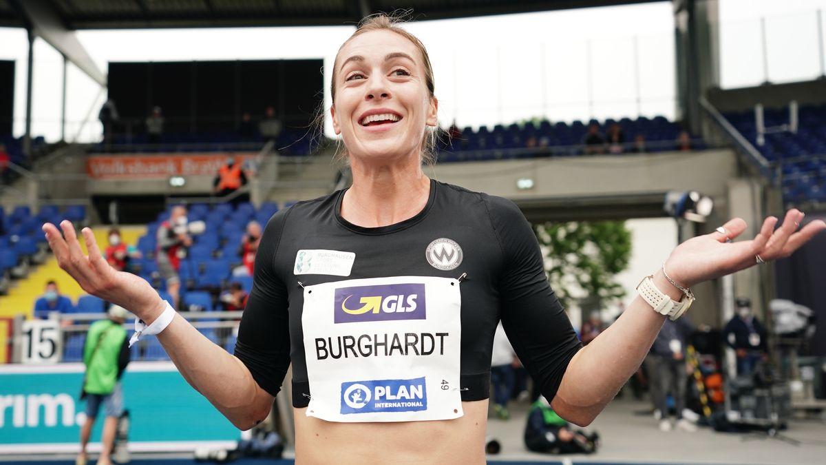 Leichtathletik: Deutsche Meisterschaft, 200 Meter-Siegerin Alexandra Burghardt.