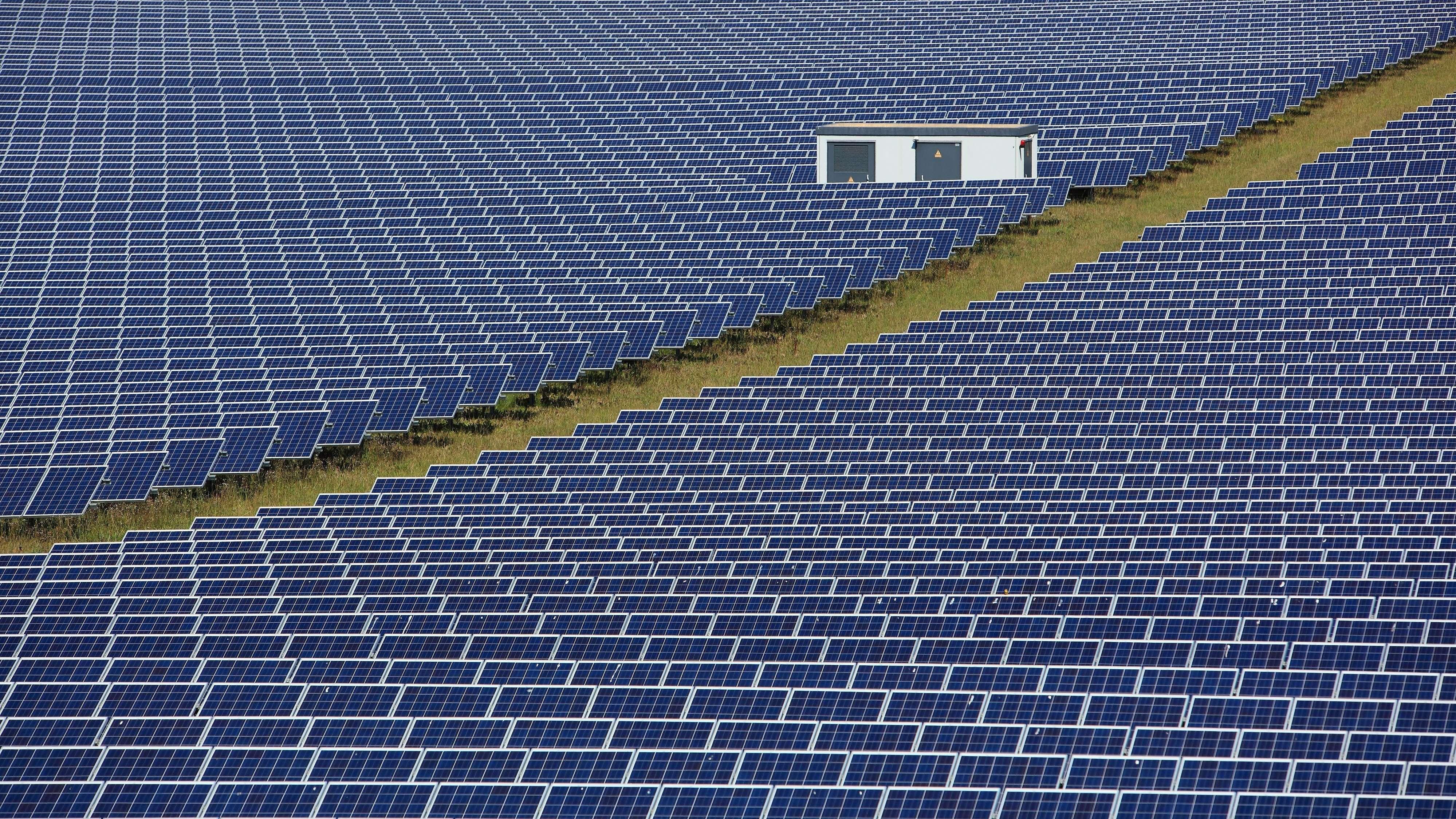 Solarpark im oberfränkischen Fesselsdorf