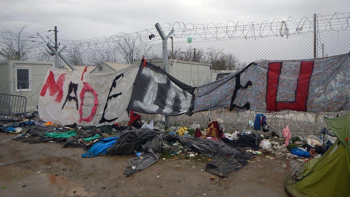 Grenzzaun im griechischen Ort Idomeni