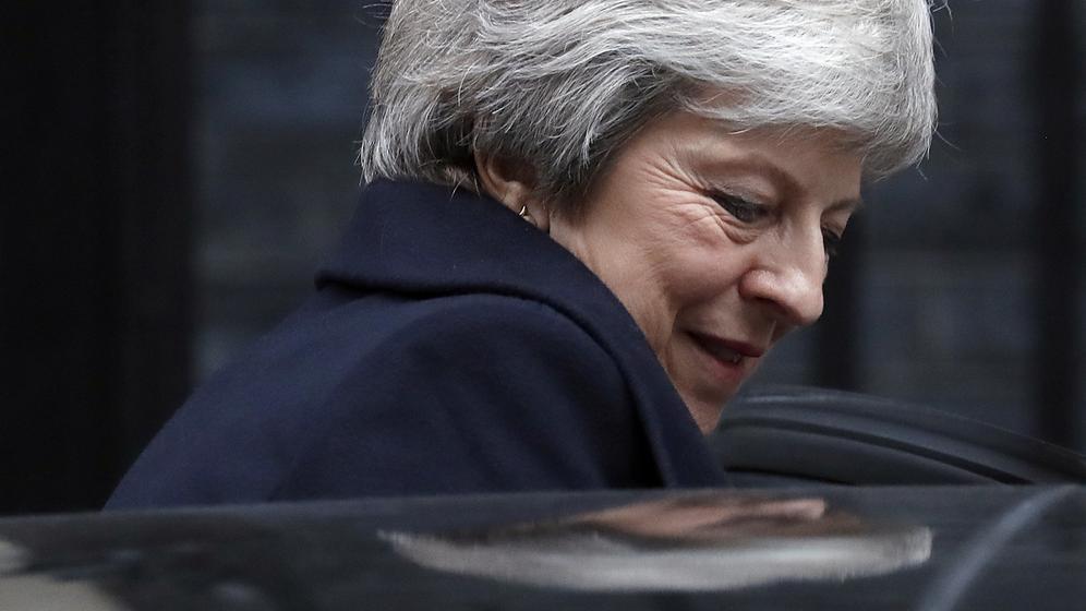 Die britische Premierministerin Theresa May | Bild:pa/dpa