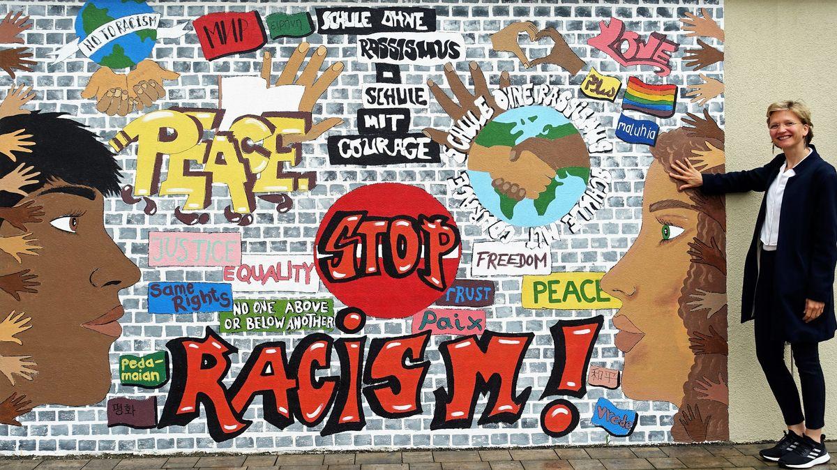 Graffiti im Pausenhof der FOS/BOS