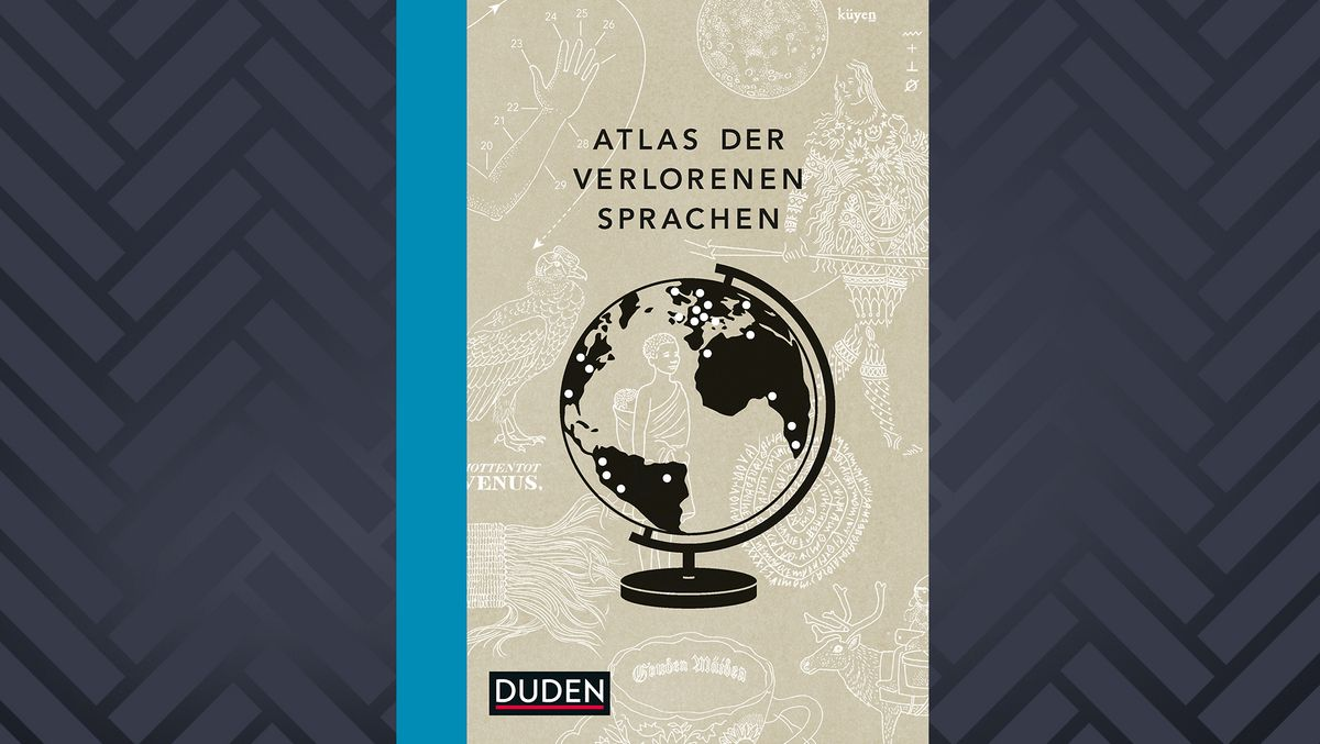 """Cover des Buchs """"Atlas der verlorenen Sprachen"""" von Rita Mielke"""