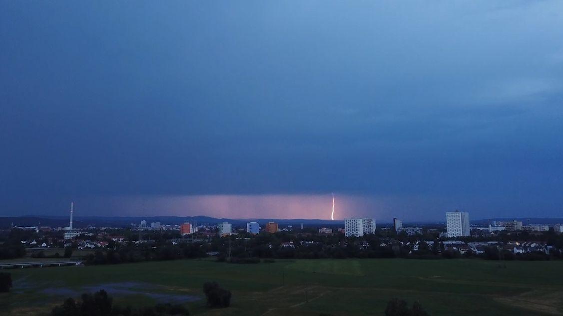 Gewitter über Erlangen