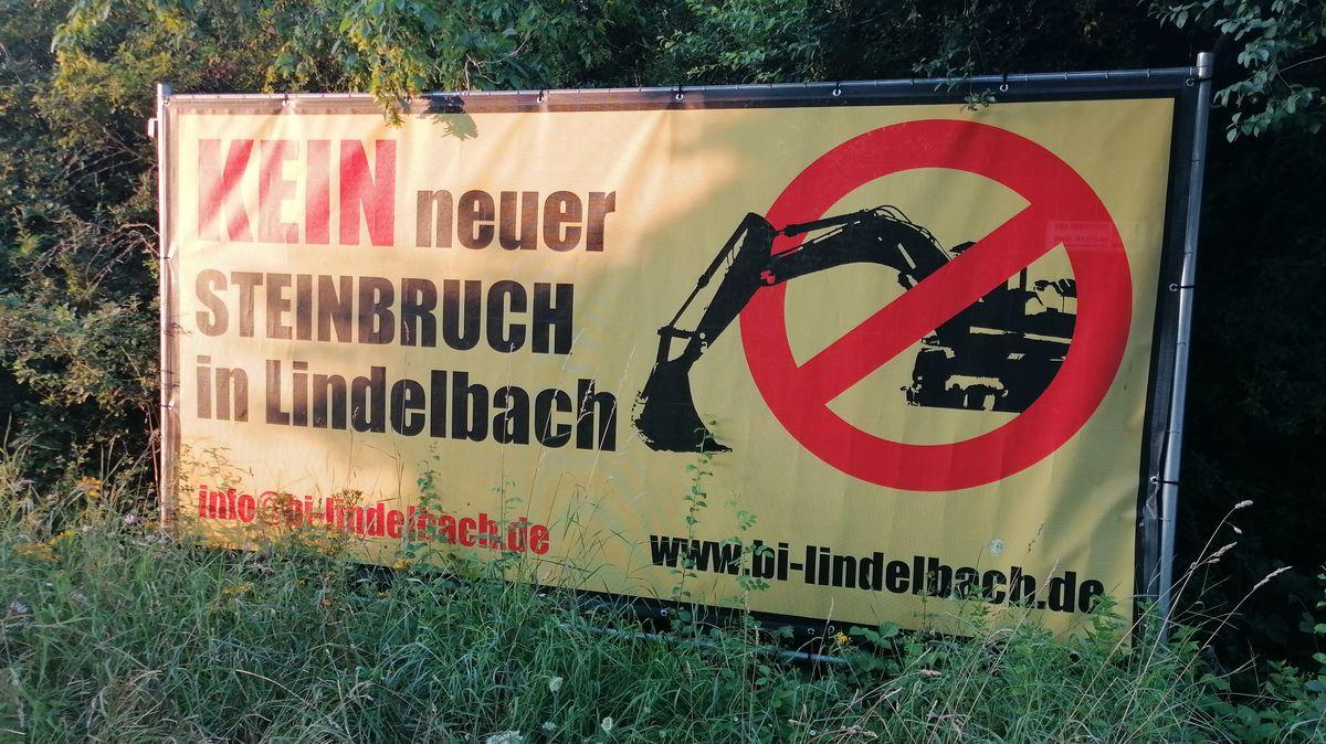 Plakat der Bürgerintiative in Lindelbach