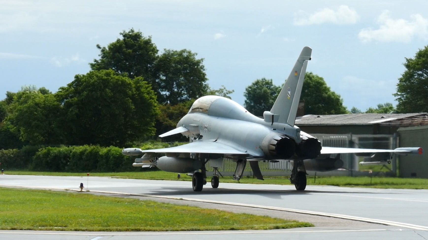 Eurofighter beim Startvorgang