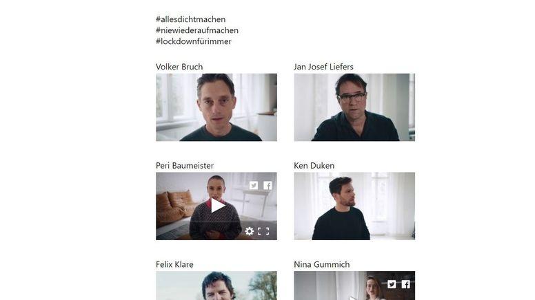 Viele bekannte Film- und Fernsehschauspielende haben eine gemeinsame Protestaktion gegen die Corona-Politik der Bundesregierung veröffentlicht. | Bild:Screenshot: allesdichtmachen.de
