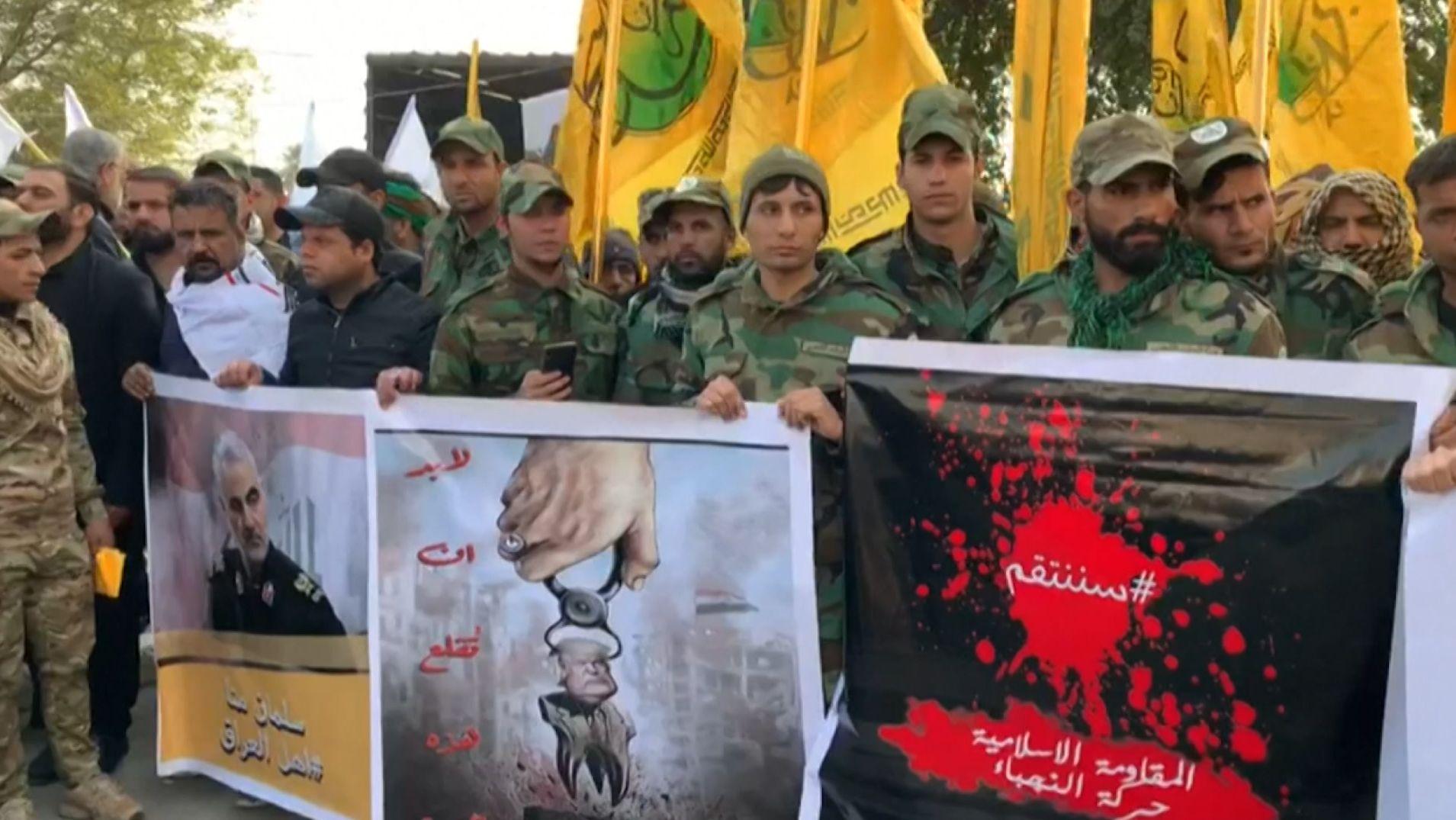 Im Irak, wo General Soleimani durch die USA getötet wurde, nahmen Zehntausende an einem Trauerzug teil und riefen anti-amerikanische Parolen.
