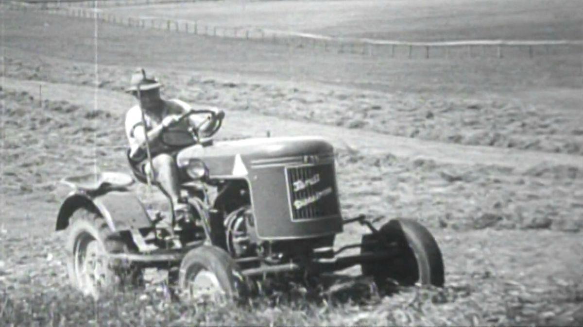 Schwarz-Weiß-Bild Fendt Dieselross