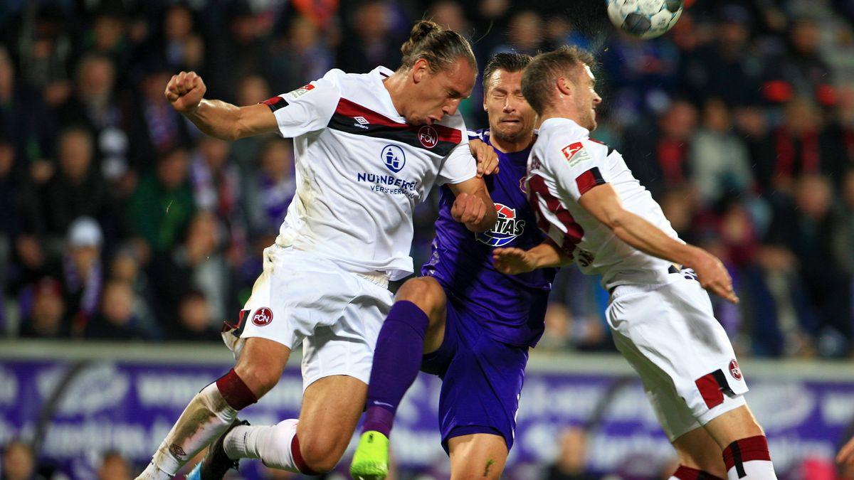 Spielszene Erzgebirge Aue - 1. FC Nürnberg