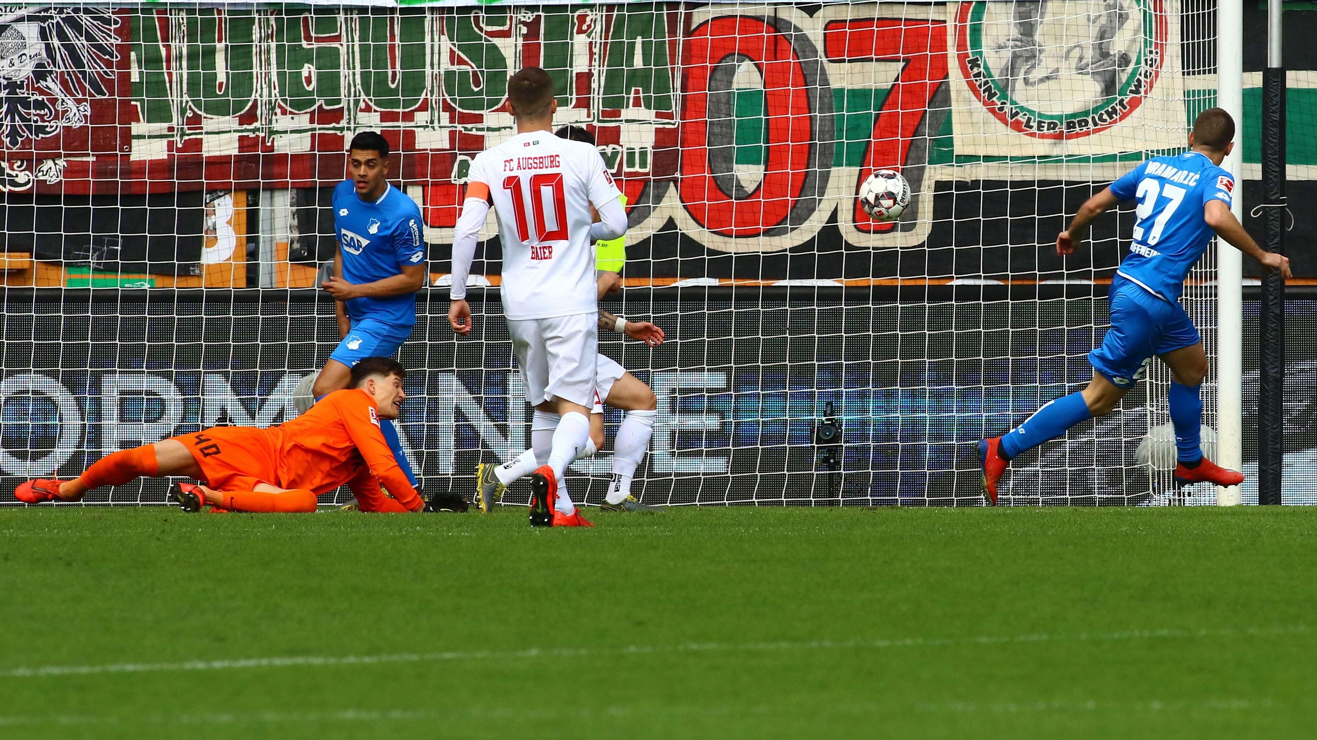 Hoffenheims 1:0 in Augsburg, rechts Torschütze Kramaric