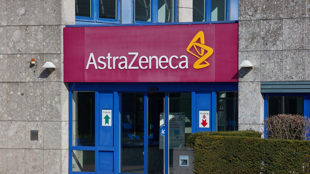 Eingang der Astrazeneca-Tochtergesellschaft in Wedel (Schleswig-Holstein).