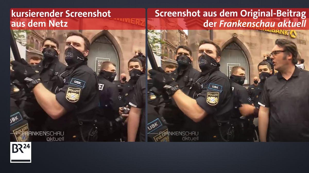 Der Vergleich zeigt: Der Screenshot stammt aus der Frankenschau aktuell vom 11.05.2020