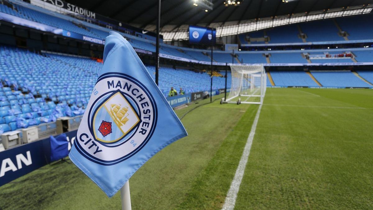 Manchester City - Stadion mit Eckfahne