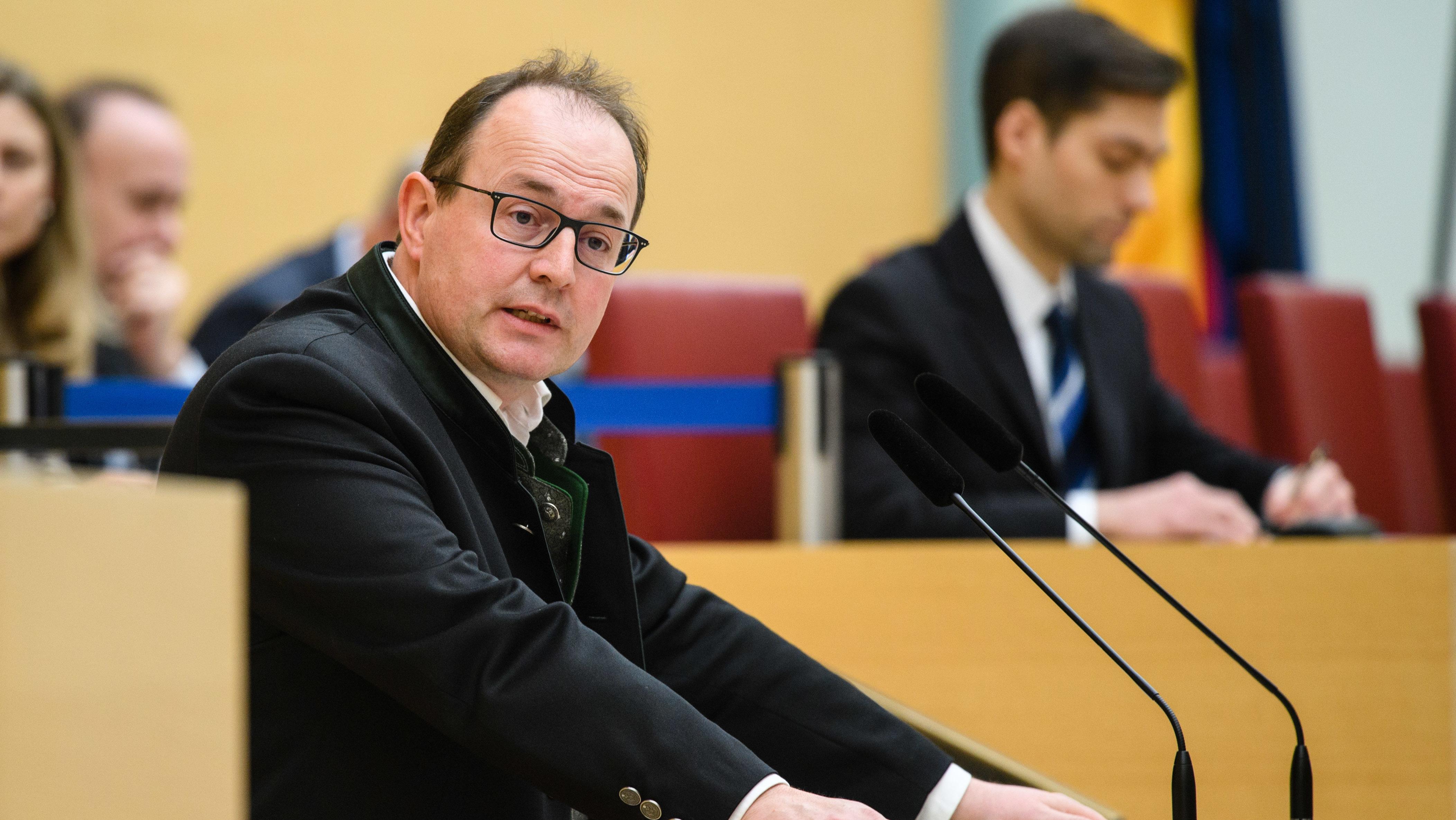 Fraktionschef Markus Plenk (Alternative für Deutschland) im Landtag