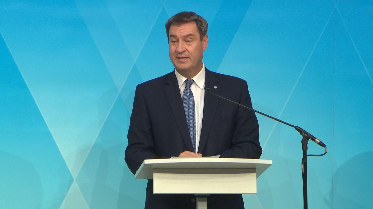 Ministerpräsident Markus Söder (CSU) bei der Kabinetts-PK am 14.09.20