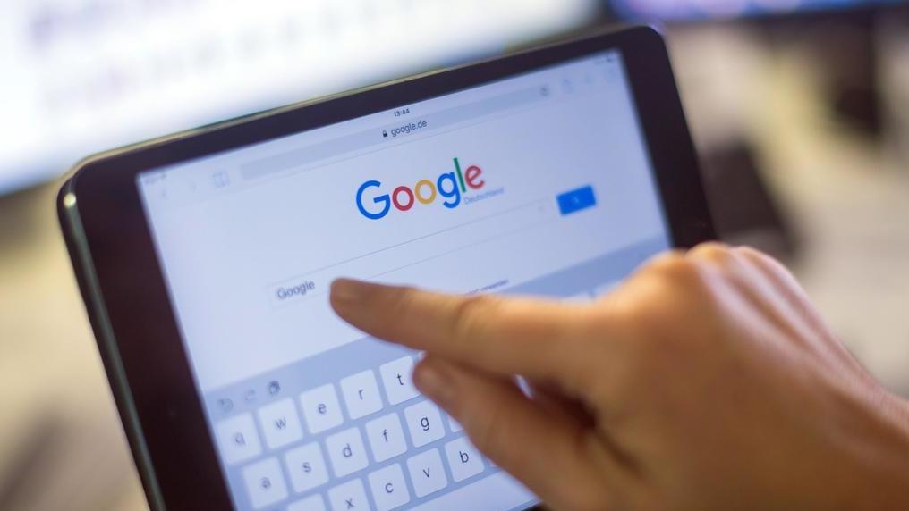 Google-Suche auf Tablet