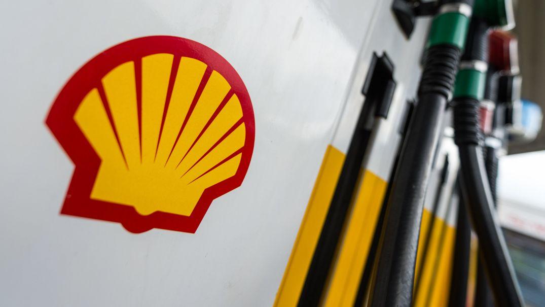 Zapfsäule einer Shell-Tankstelle