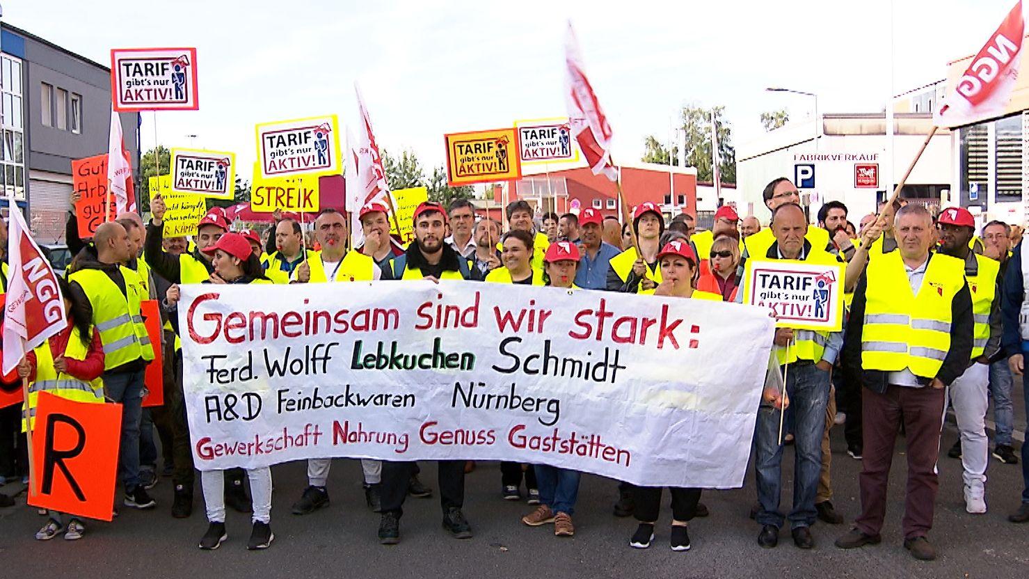 Warnstreik der Süßwarenindustrie in Nürnberg