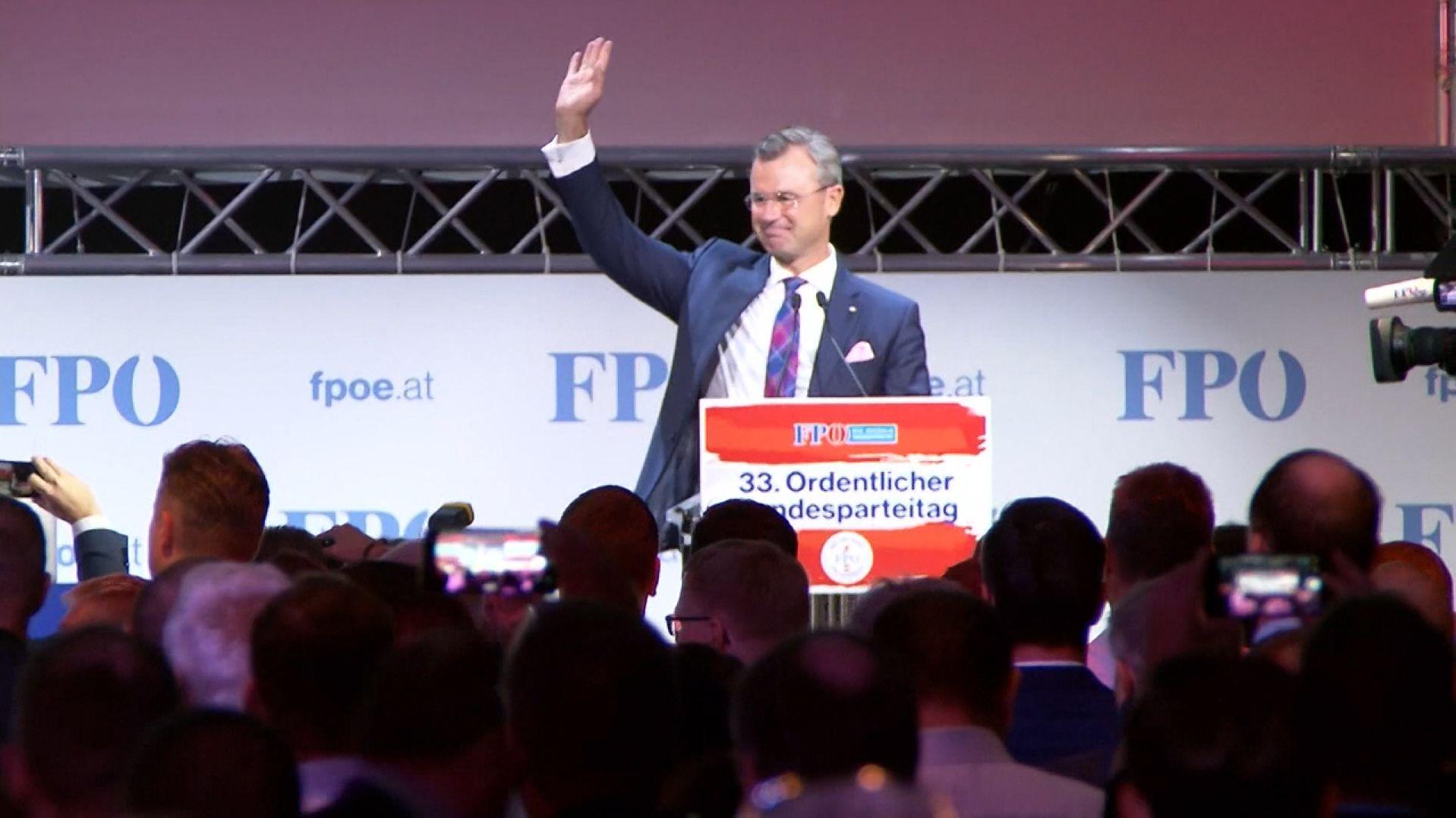 Norbert Hofer ist zum neuen Vorsitzenden der rechtspopulistischen FPÖ gewählt worden.