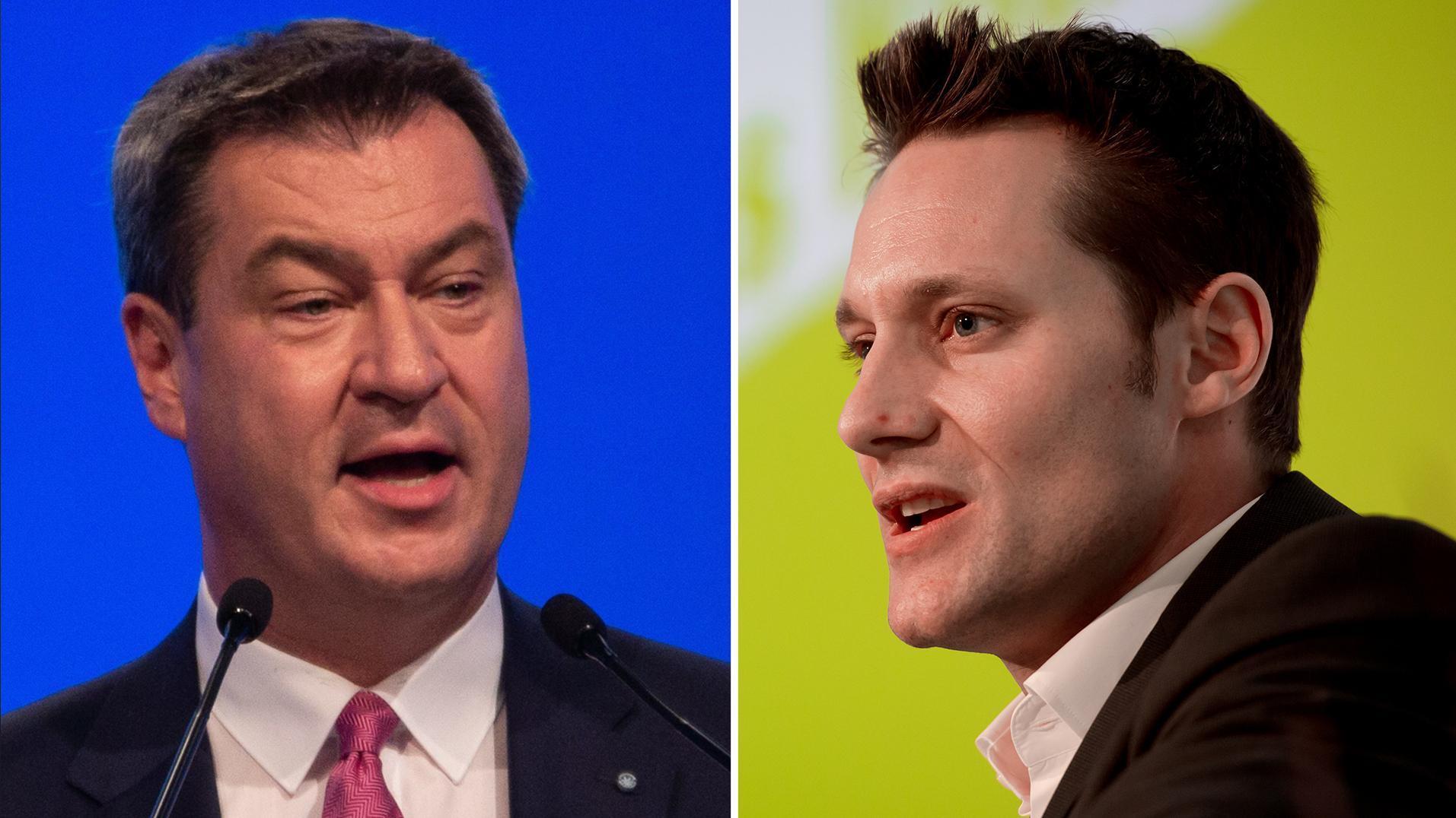 Der BR lädt am Mittwoch, 26. September 2018 um 20.15 Uhr, die Spitzenkandidaten von CSU und Bündnis90/Die Grünen, Markus Söder und Ludwig Hartmann, zum TV-Duell ein.