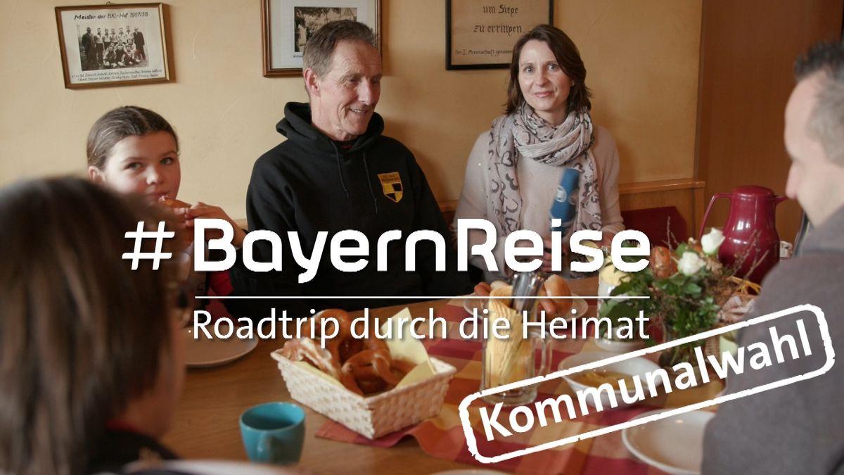 Robert Popp und BR-Reporterin Alexandra Rinschler