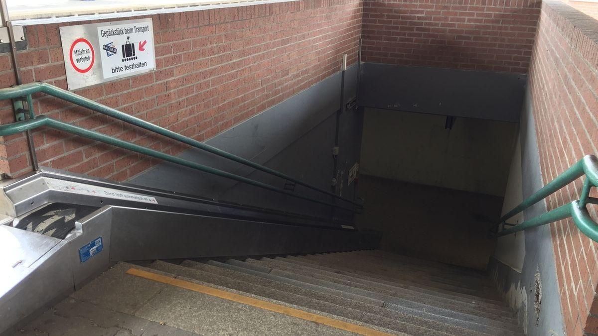 Treppe am Bahnhof Kaufbeuren