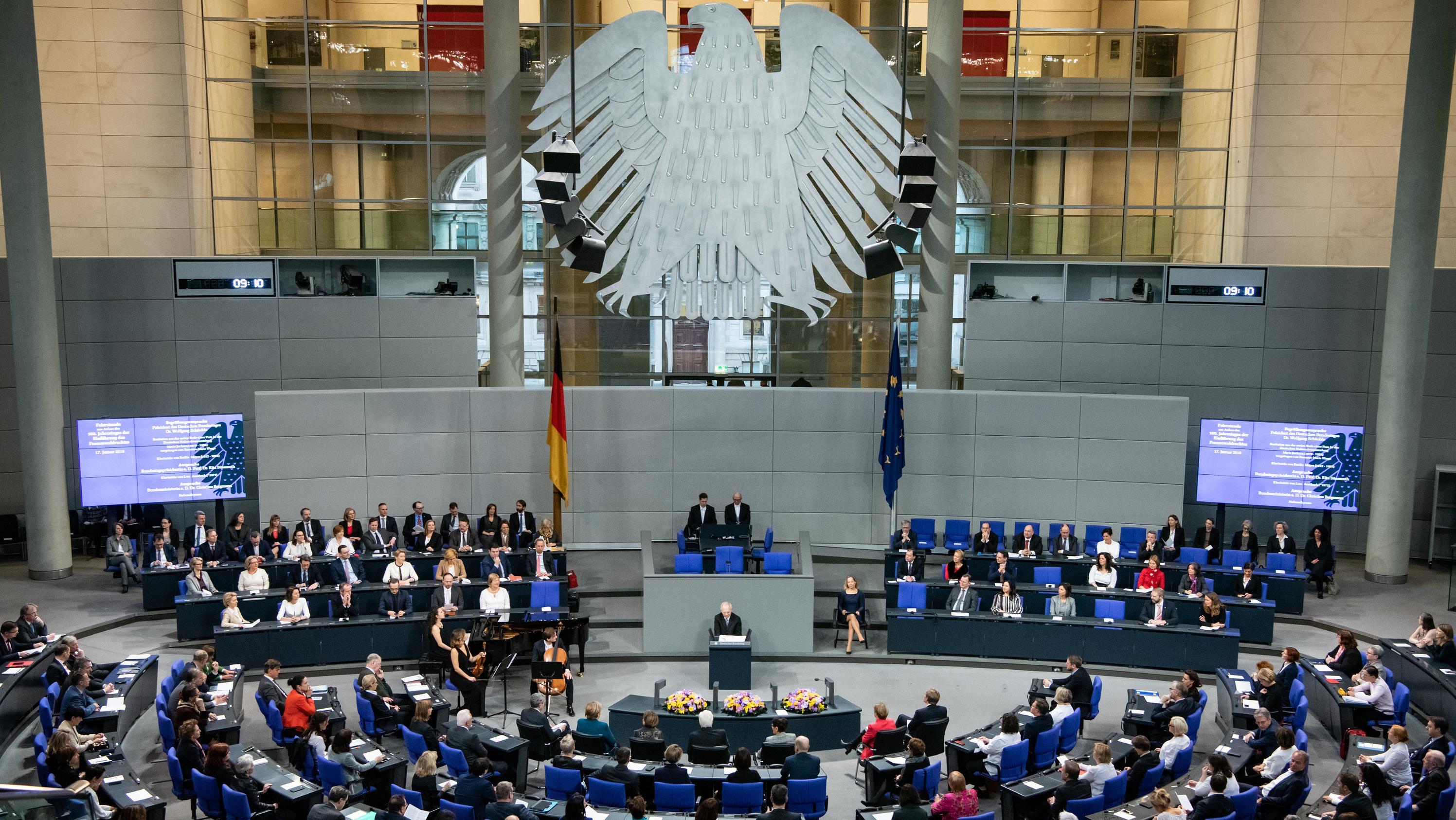 Sitzung Deutscher Bundestag