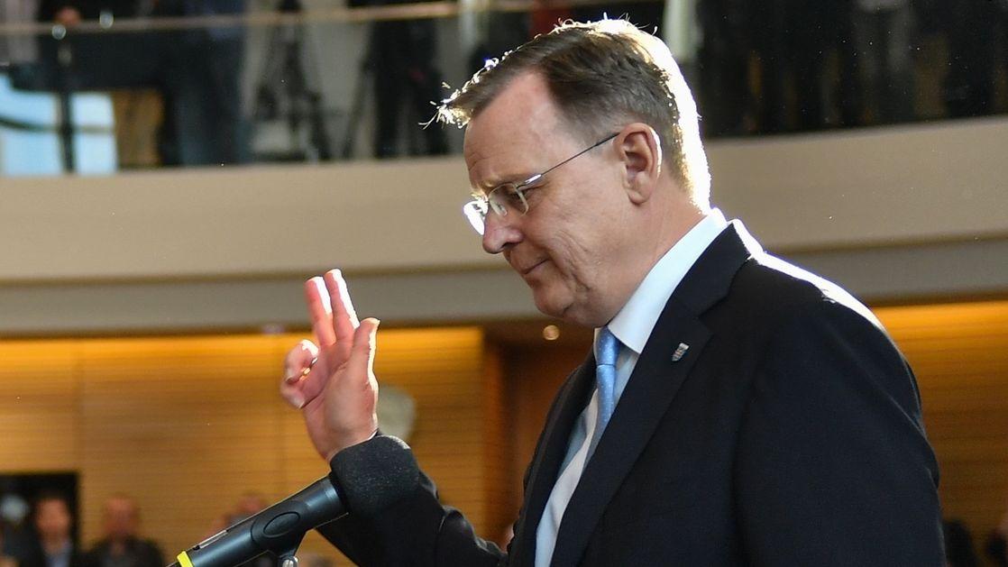 Bodo Ramelow, Linke, nach der Wahl zum Ministerpräsidenten in Thüringen