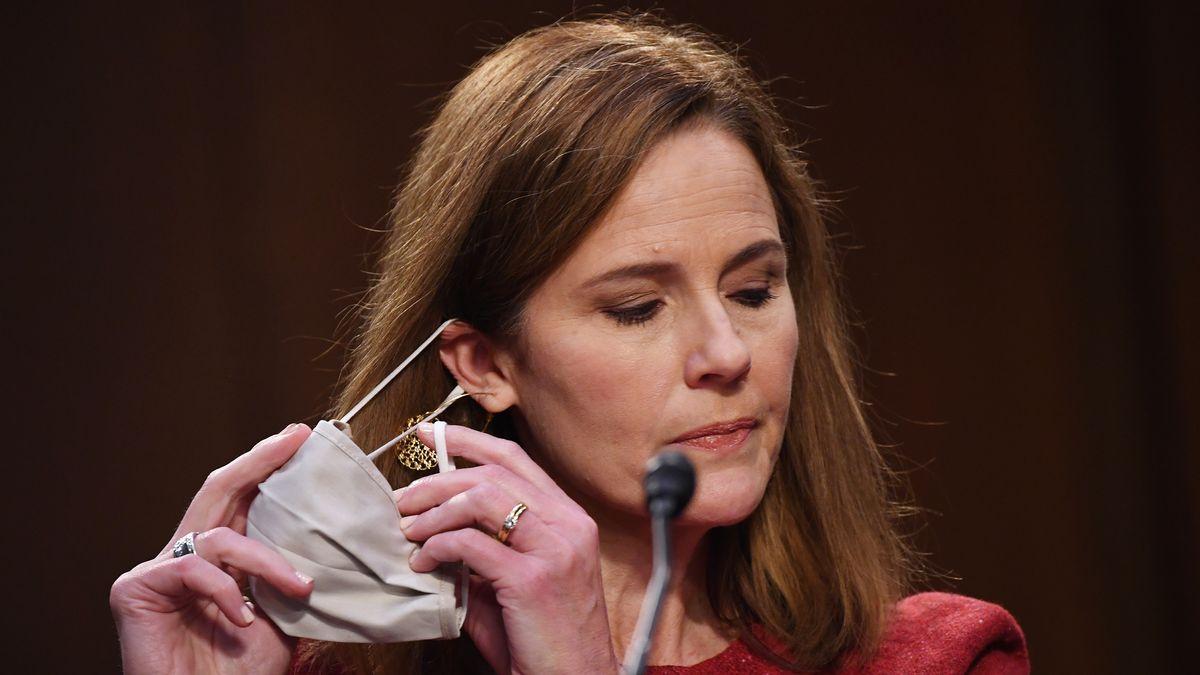 Amy Coney Barrett bei der Anhörung vor dem US-Senat am 13.10.2020.
