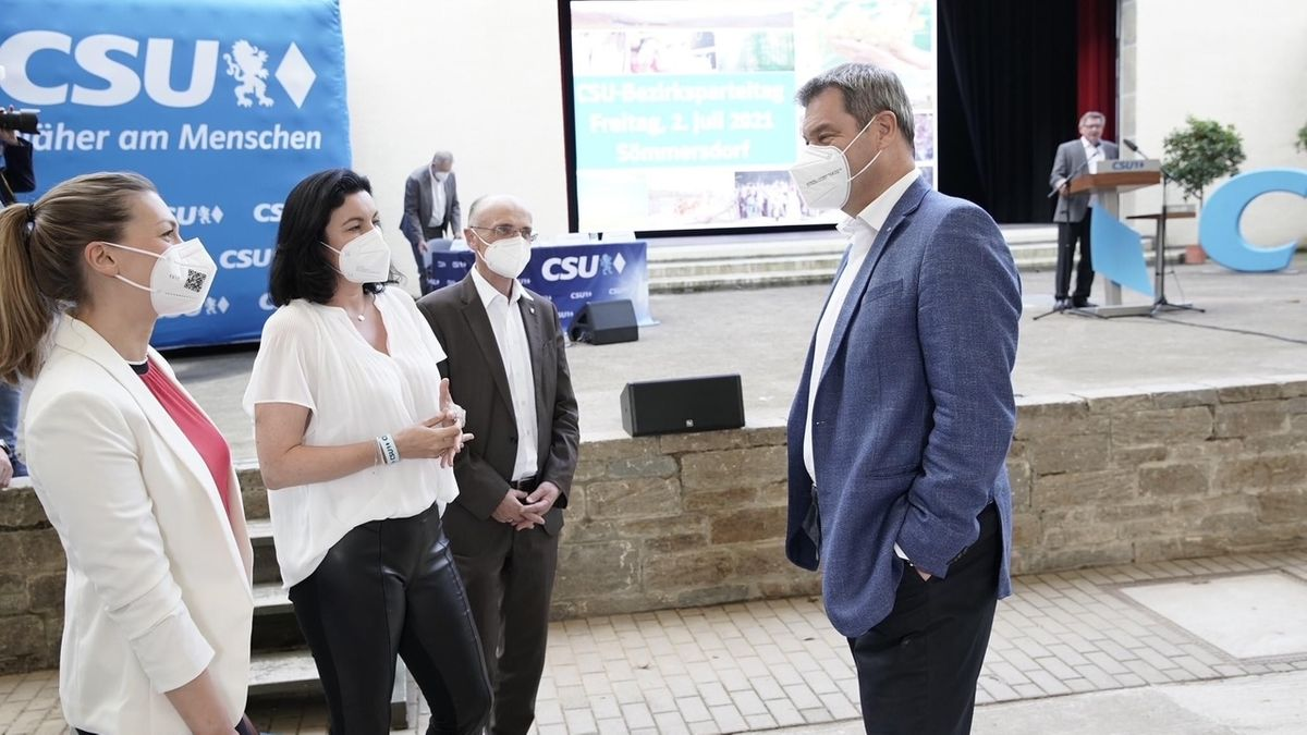 Ministerpräsident Söder auf dem Bezirksparteitag der CSU Unterfranken