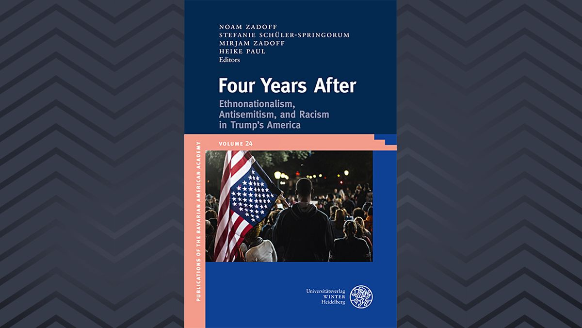 Cover des Buchs mit einem Foto eines Demonstranten mit US-amerikanischer Flagge