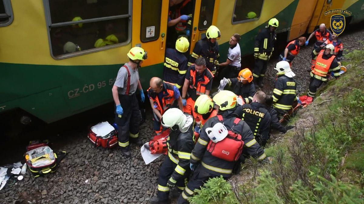Schweres Zugunglück in Tschechien.