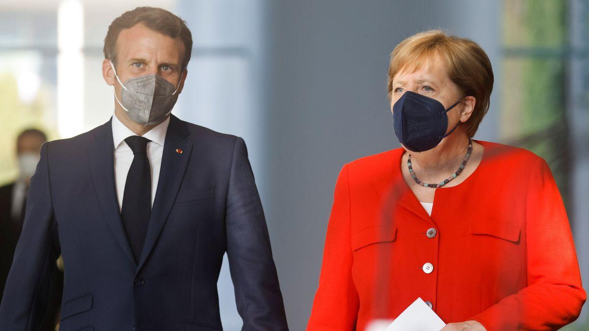 Frankreichs Präsident Emmanuel Macron und Bundeskanzlerin Angela Merkel.