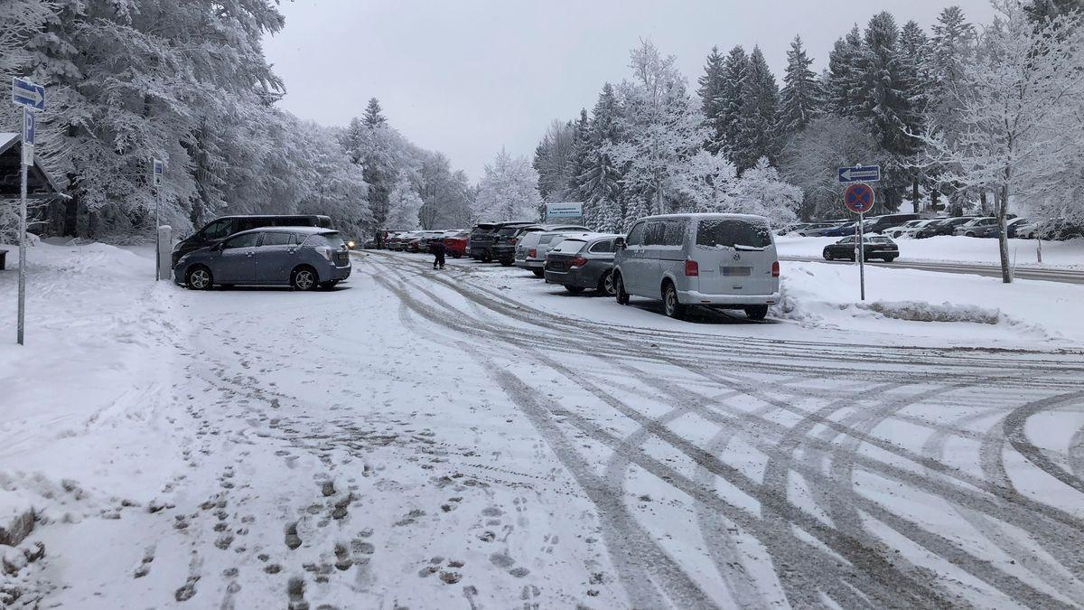 Parkplatz am Langlaufzentrum Rusel-Oberbreitenau