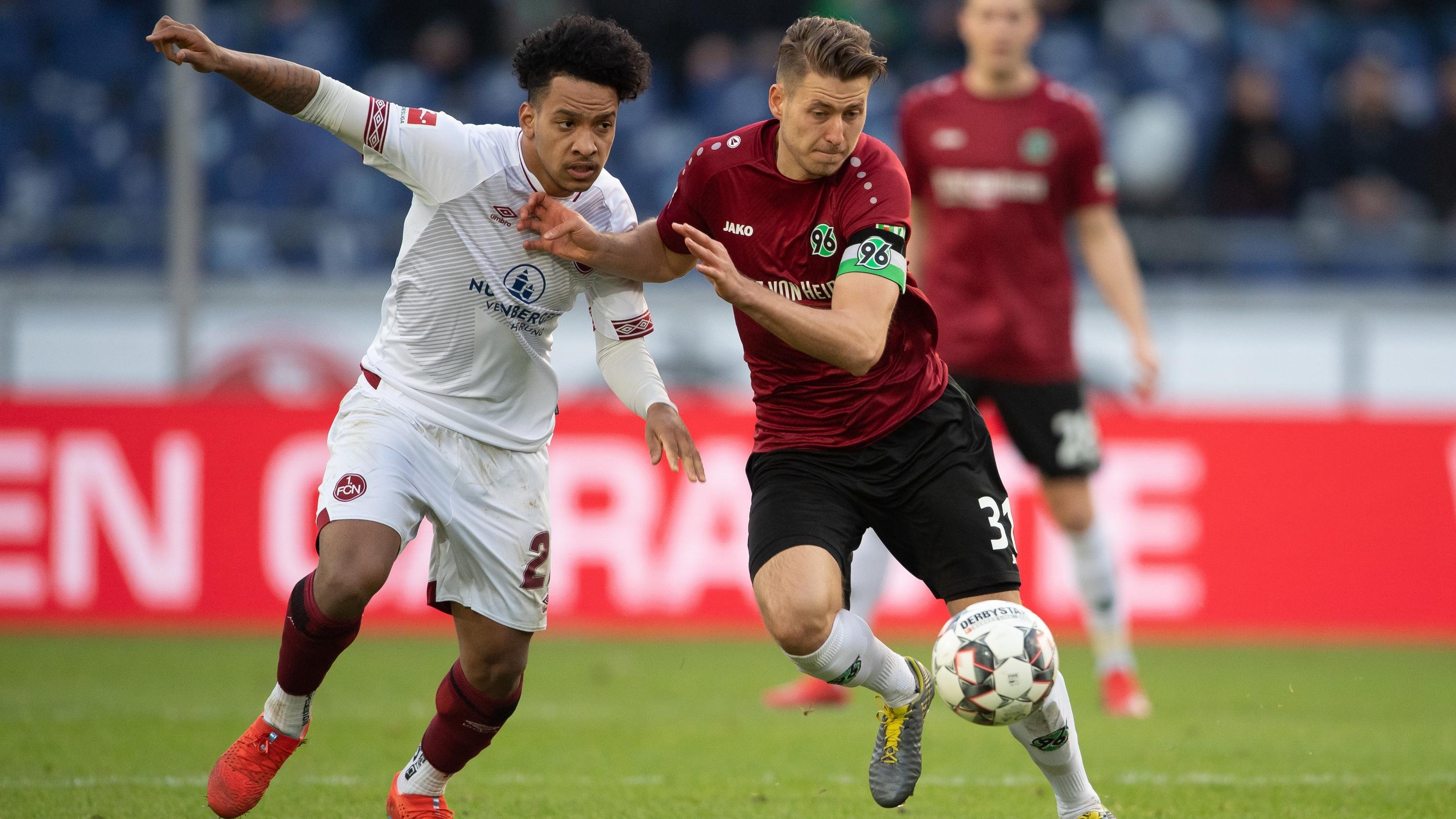 Szene aus dem Spiel Hannover gegen Nürnberg