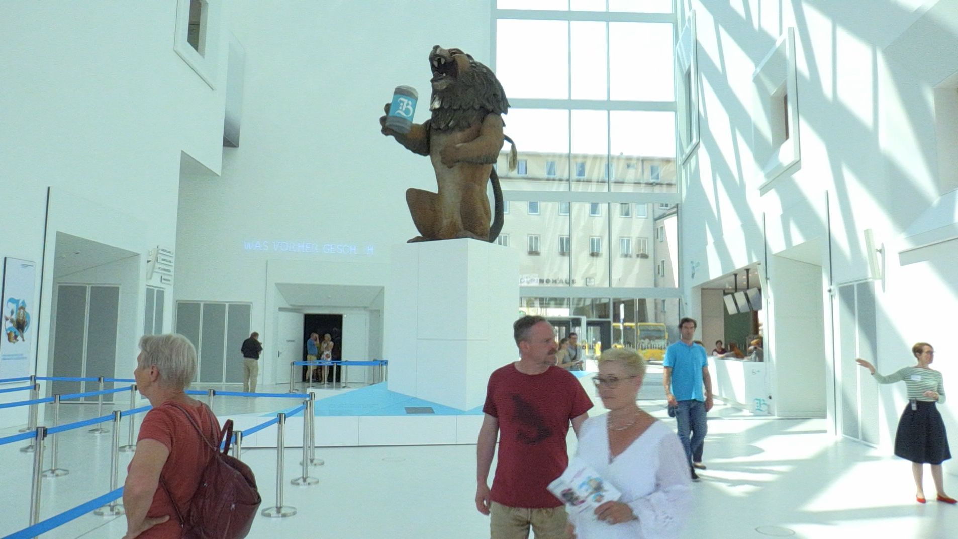 Das 17 Meter hohe Foyer im Museum der Bayerischen Geschichte