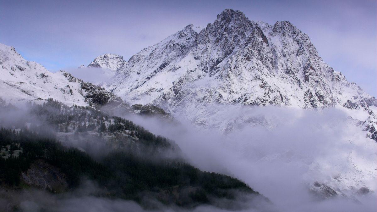 Mont Pelvoux, Nationalpark des Ecrins, Haute Dauphine, Frankreich.