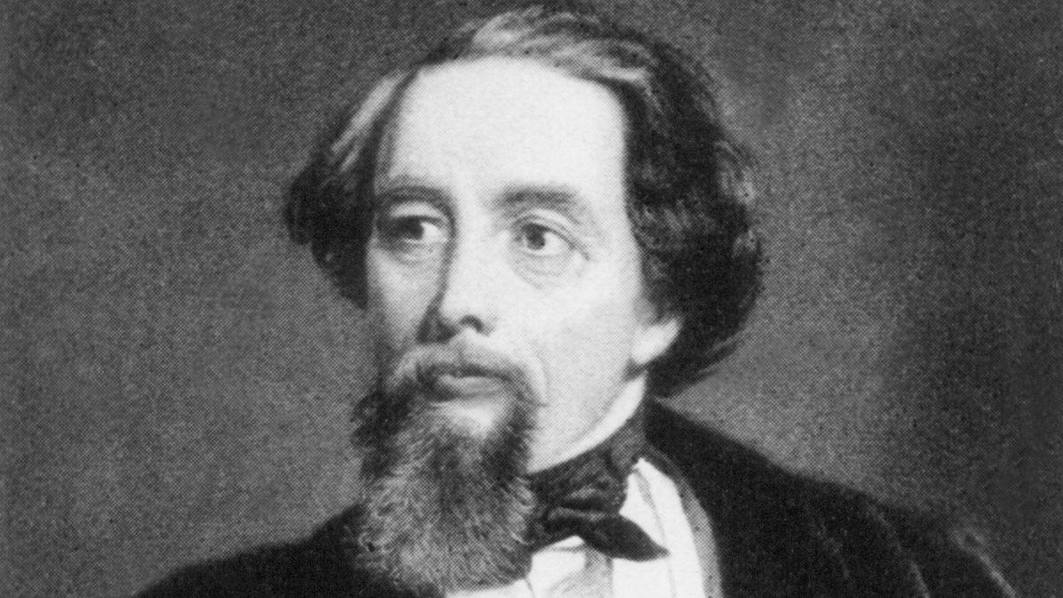 Der britische Schriftsteller Charles Dickens in einer zeitgenössischen Darstellung.