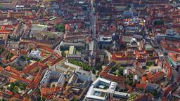 Luftbild der Würzburger Altstadt | Bild:pa-dpa