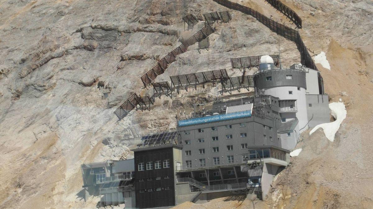 Schneefernerhaus, Standort des Seismographen auf der Zugspitze