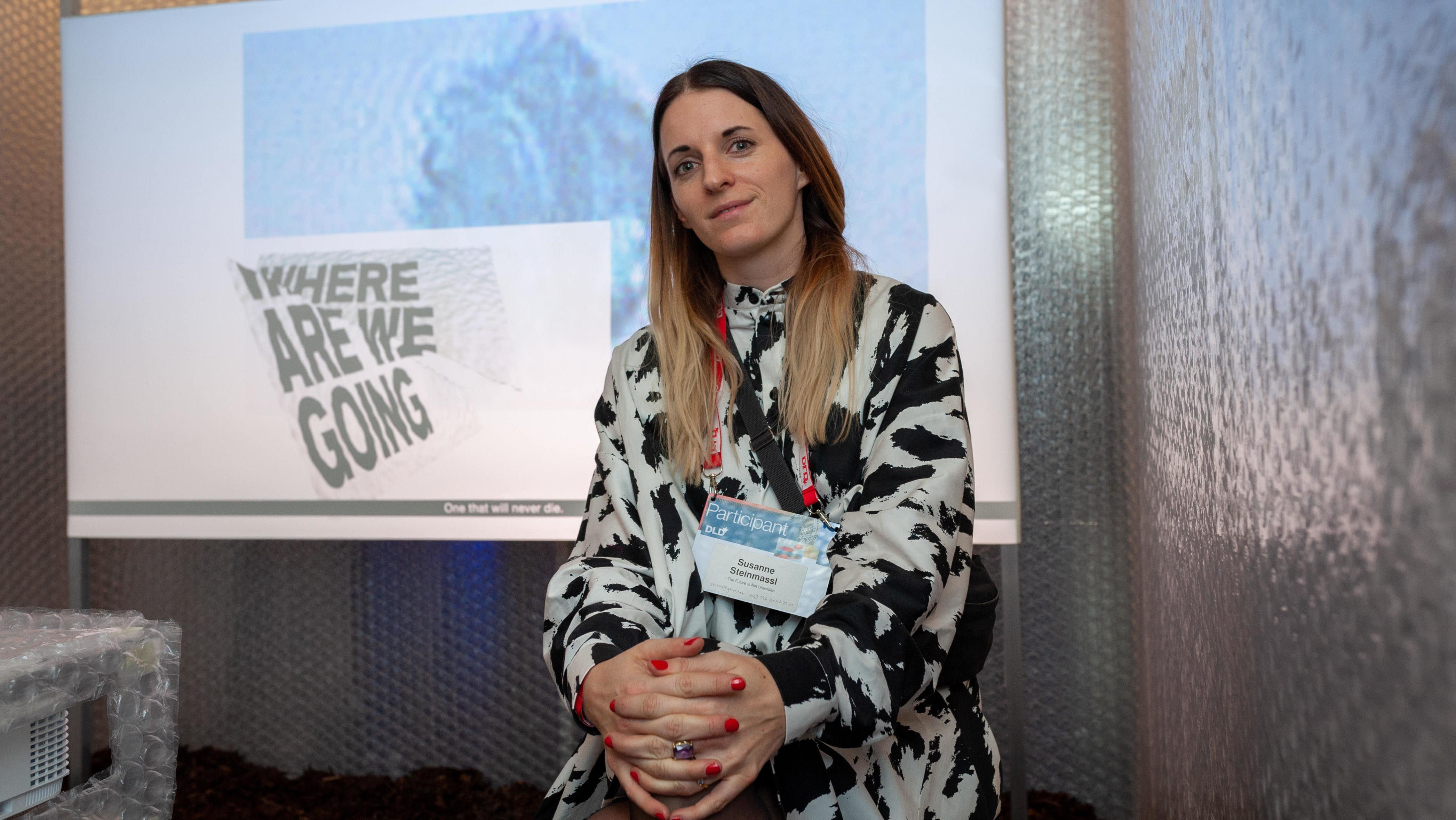 Susanne Steinmassl, die ihren KI-Film auf der DLD präsentierte
