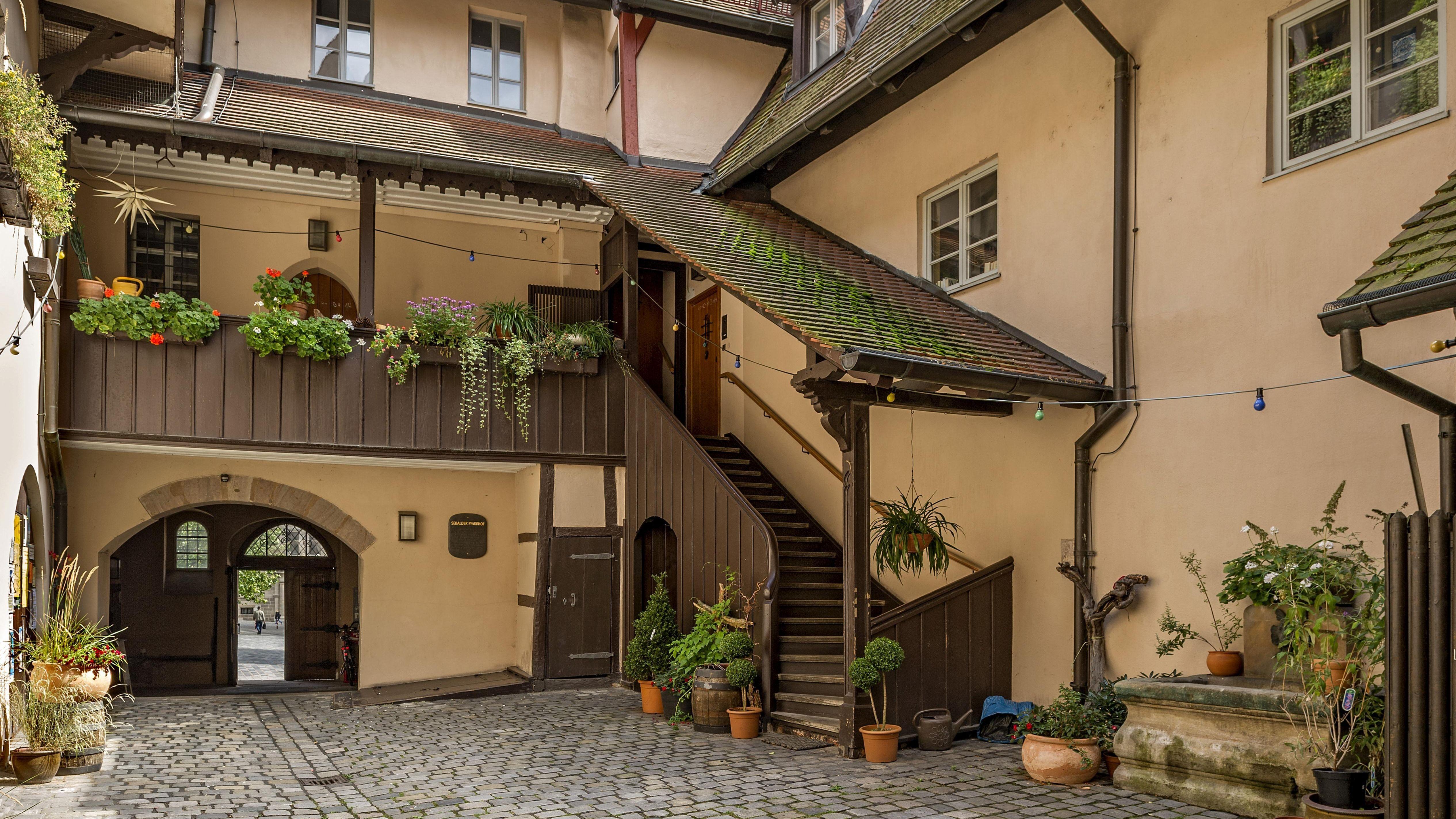 Innenhof vom Sebalder Pfarrhof, Altstadt, Nürnberg