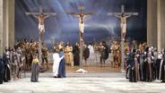 Kreuzigung von Jesus Christus, Spielszene, Passionsspiele Oberammergau | Bild:picture alliance/imageBROKER/Beck