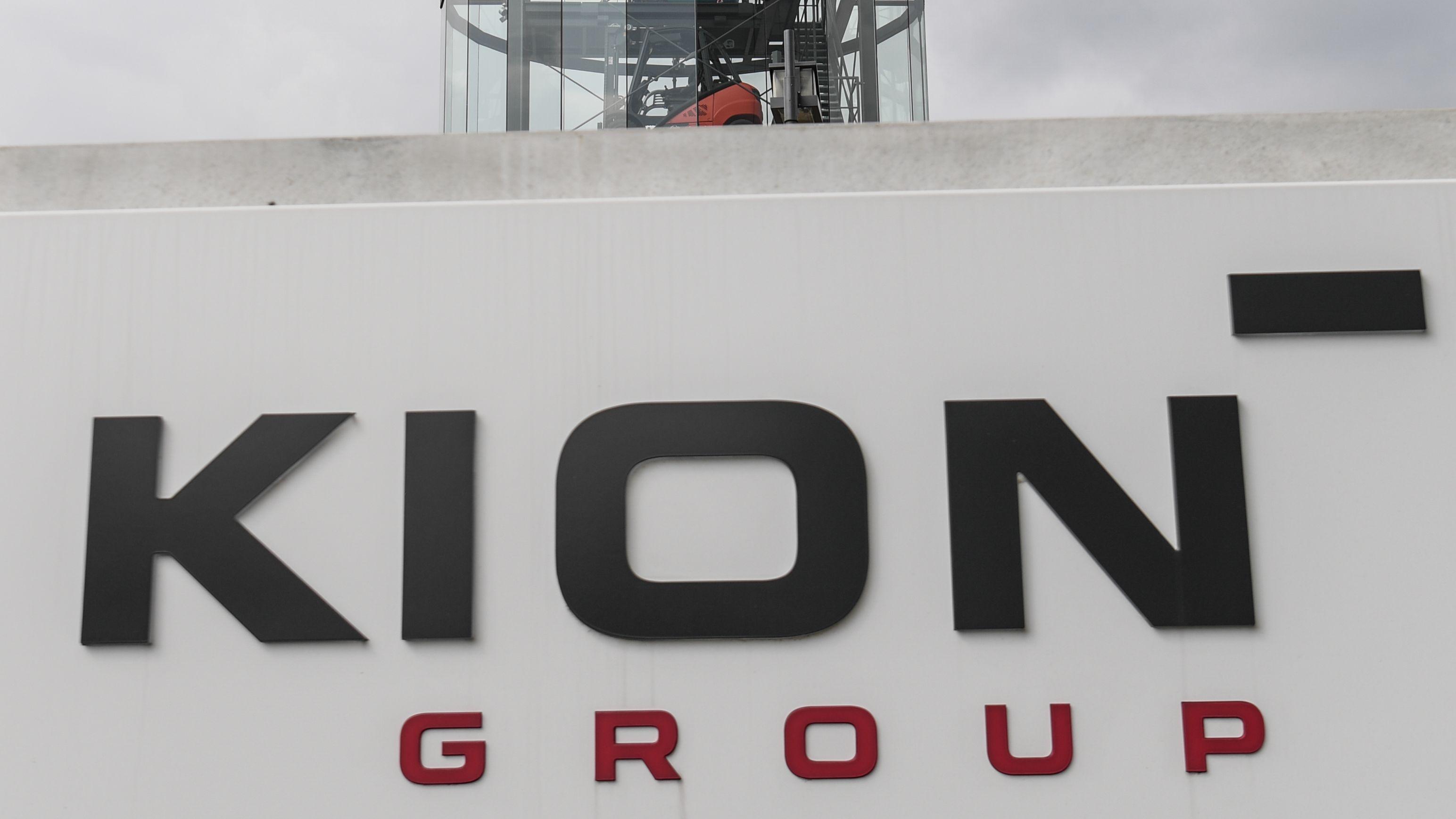 Logo der Kion Group am Sitz in Frankfurt