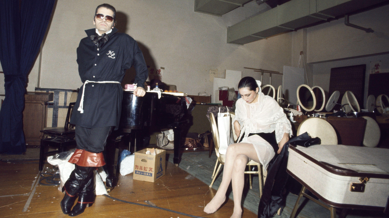 Karl Lagerfeld  Ende der 70er-Jahre