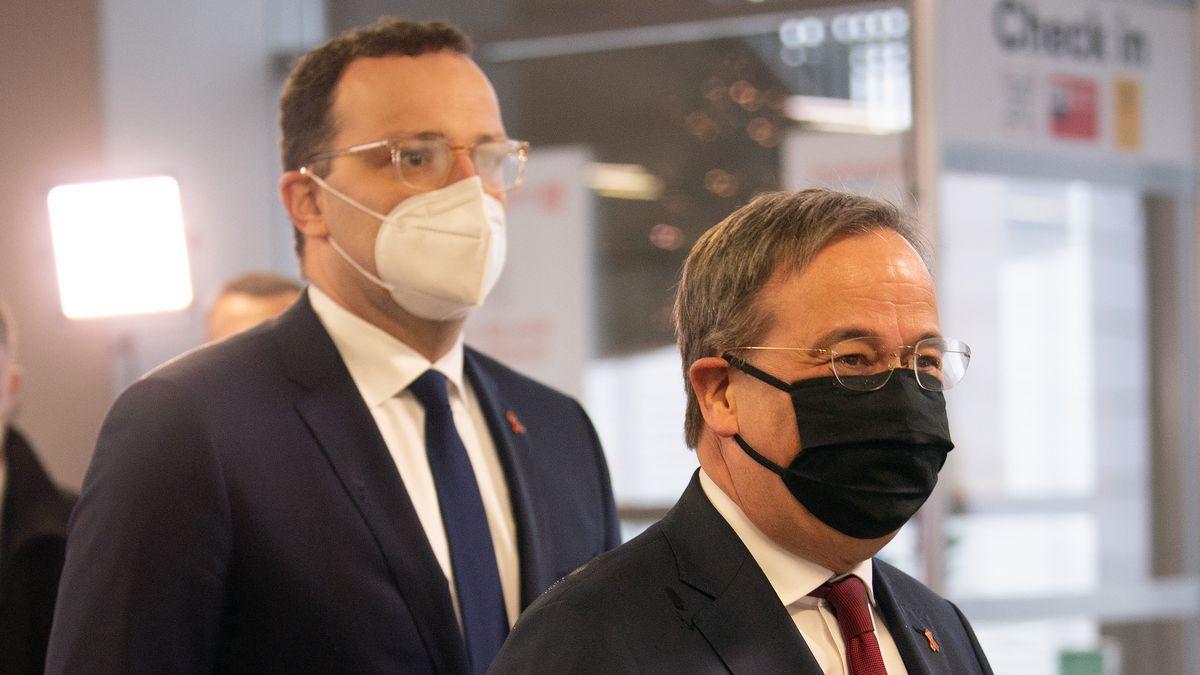 Jens Spahn (links), Armin Laschet