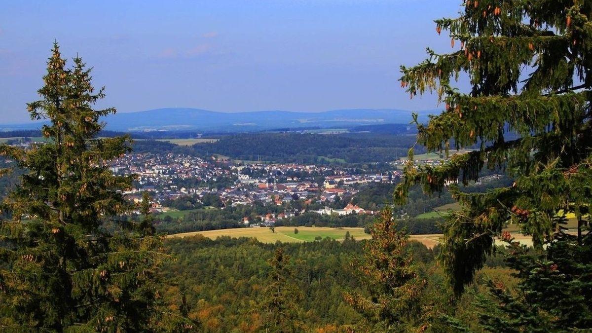 Blick auf Wunsiedel im Fochtelgebirge